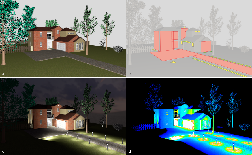 Our System Addresses Lighting Design For Buildings In A Procedural Modeling  Context. A Procedural Building Model (a) Is Augmented By A Procedural  Lighting ...