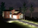 Procedural design of exterior lighting for buildings with complex constraints
